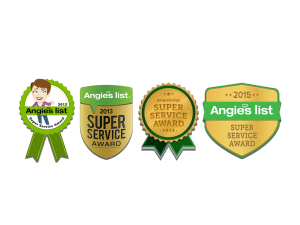 image shows Angie's List Super Service Award